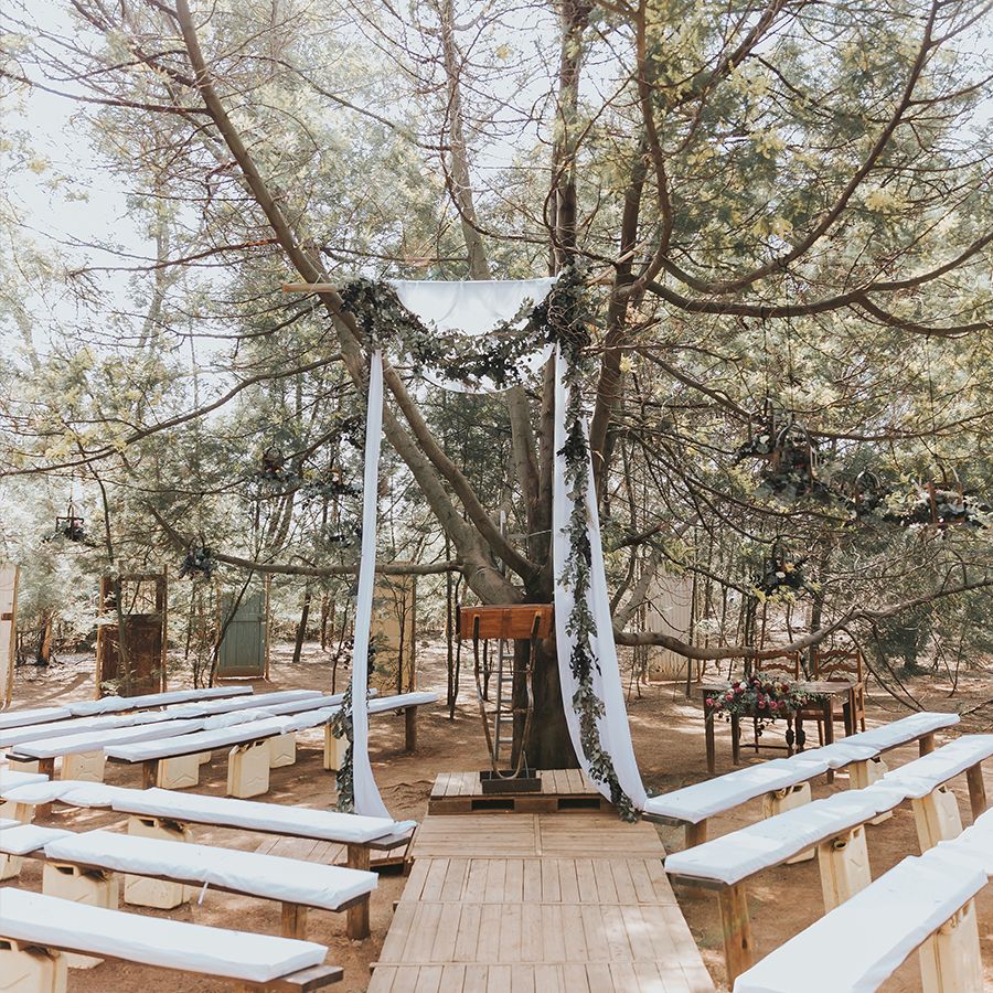 Outdoor wedding chapel